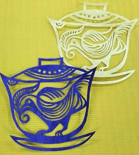 茶器の切り絵
